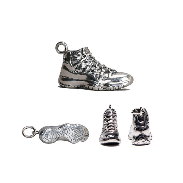 Sterling Silver Classic Sneakers Necklace