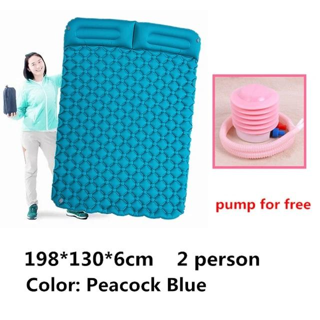 Moisture-proof Inflatable Outdoor Mattress With Pillow Ultra-light Portable 2 Person