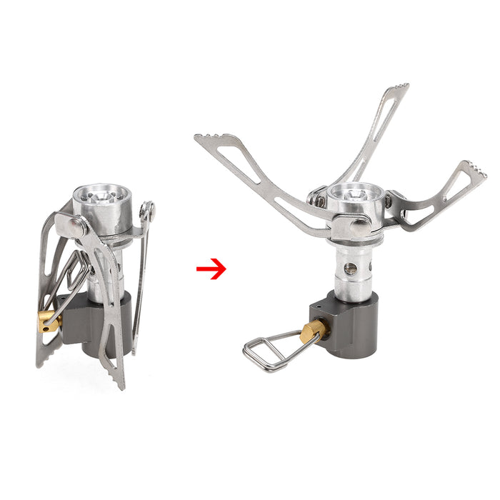 Super Lightweight Mini Stove Pocket Outdoor Cooking Burner Folding Camping Gas Stove 3000W Mini Gas Burner