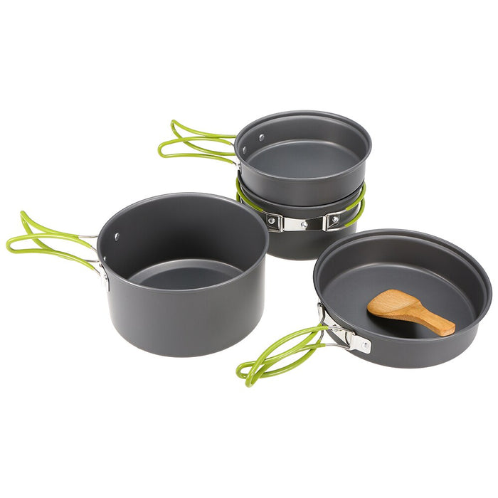 Mini Camping Piezoelectric Ignition Pot Stove Set