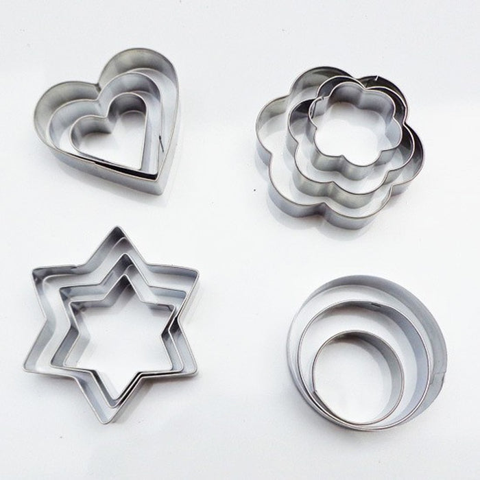 Stainless Steel Baking Molds 12pcs