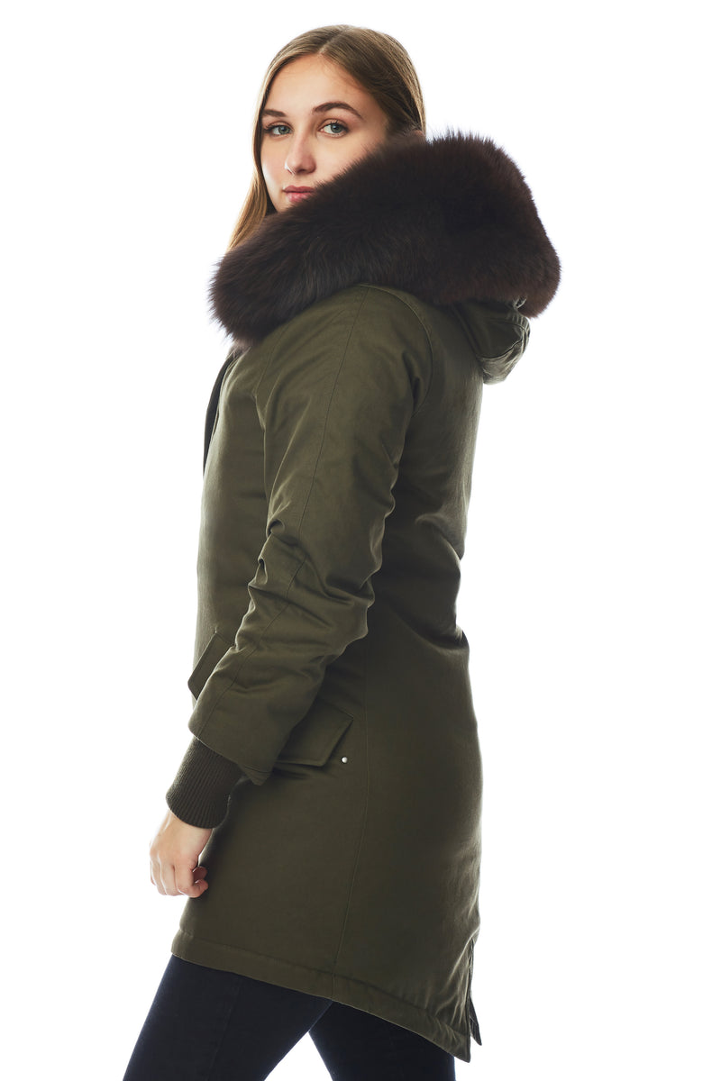 Women's Mink Fur Lined Parka
