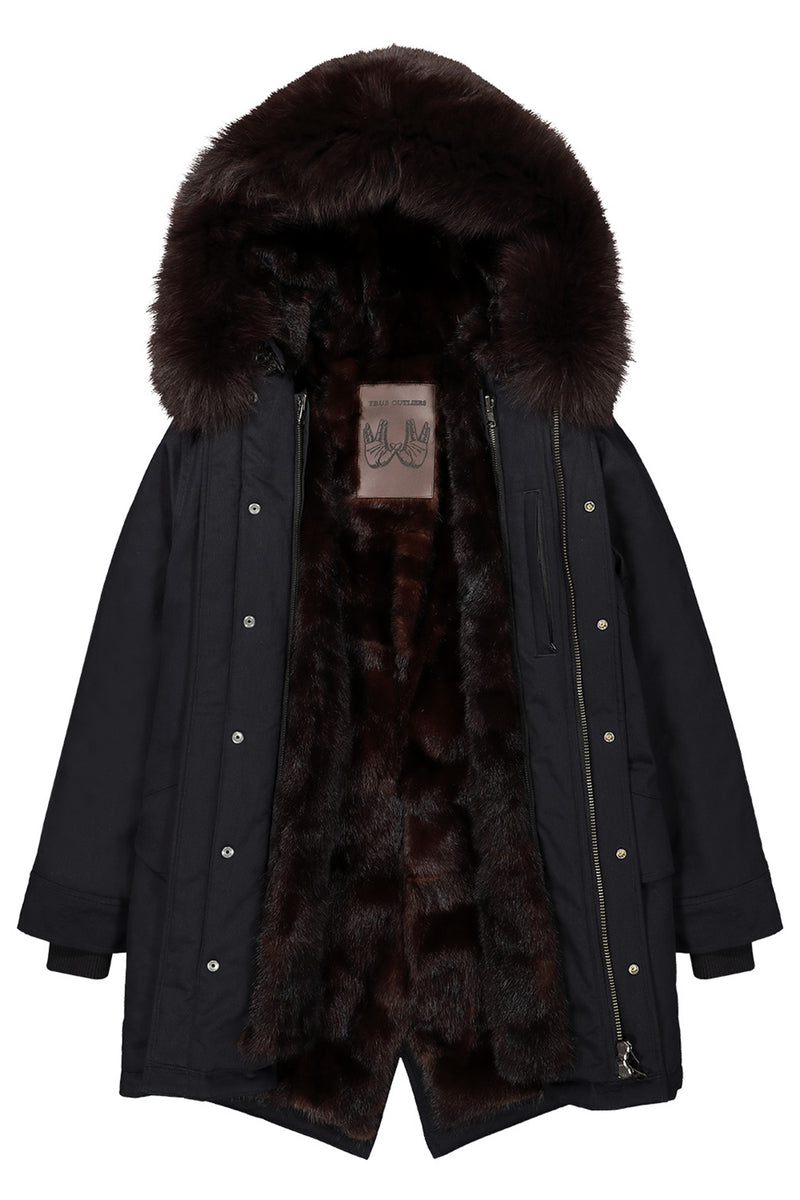 Men's Mink Fur Lined Parka
