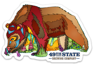 Bear - 49th State Brown Bear Sticker