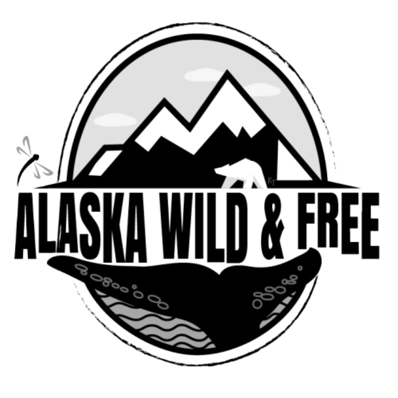 Alaska Wild & Free Sticker - Black & White