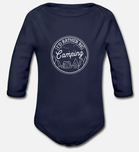 Babies - Organic Long Sleeve Onesie - Rather Be Camping