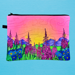 Linen Bag - Fireweed Field