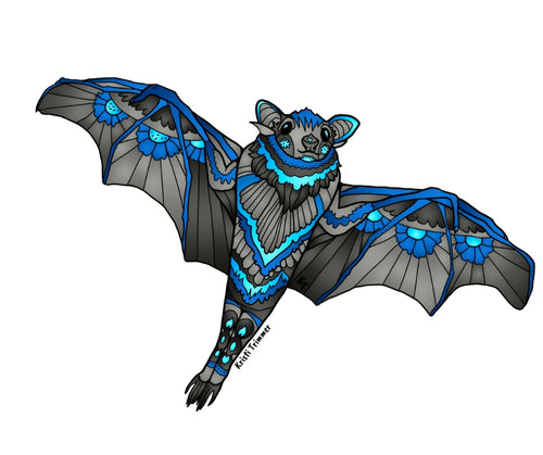 Bat - Blue Sticker