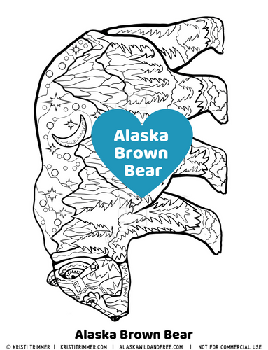 Color: Brown Bear Coloring Pages