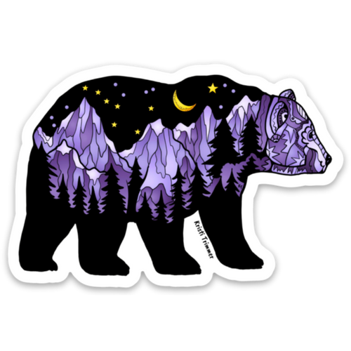 Bear - Purple Bear Magnet