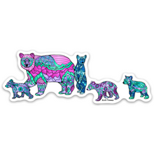 Load image into Gallery viewer, Bear - Black Bear Family of 5 Sticker