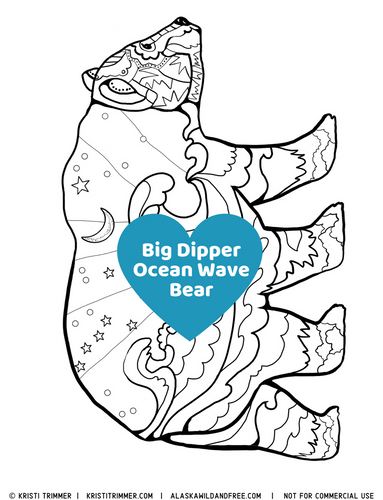 Color: Ocean Bear Coloring Pages