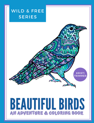 Book - Beautiful Birds: Wild & Free Birds Adventure & Coloring Book