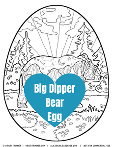 Color: Easter Eggs - Big Dipper Bear Coloring Page
