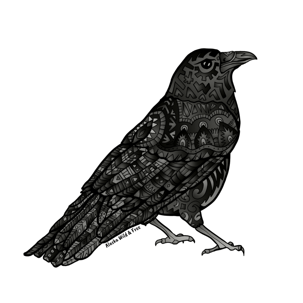 Bird - Black Raven Sticker
