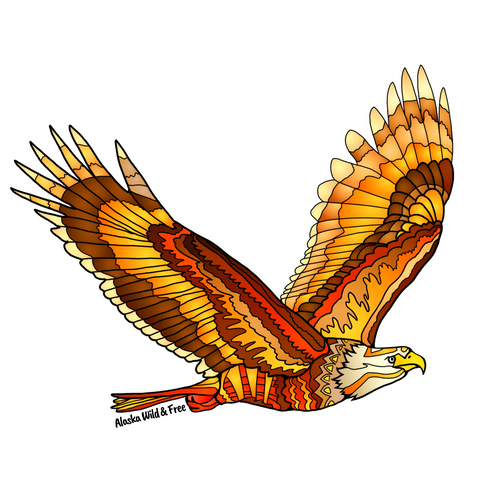 Bird - Flying Eagle Sticker