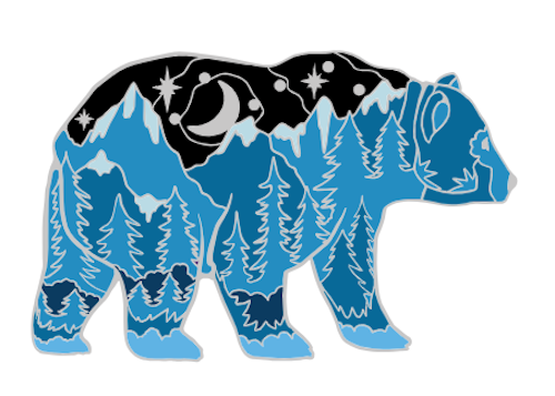 Alaska Glacier Blue Bear Pin