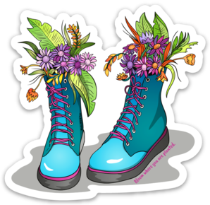 Boots - Blue Gardening Boots Magnet