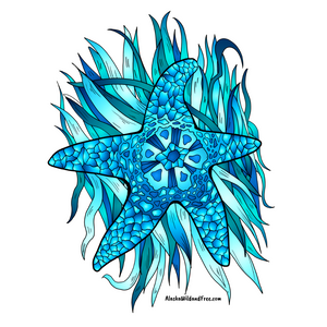 Starfish - Blue Starfish Sticker