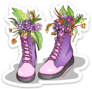 Boots - Purple Gardening Boots Sticker