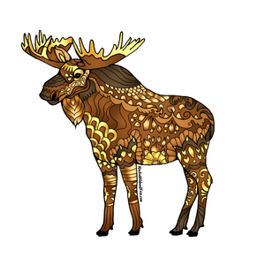 Moose - Majestic Brown Moose Sticker