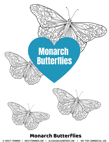 Color: Monarch Butterflies Coloring Page