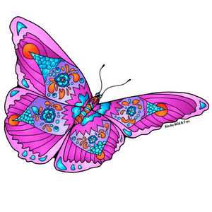 Butterfly - Pink Butterfly Sticker