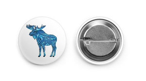 Button - Blue Moose