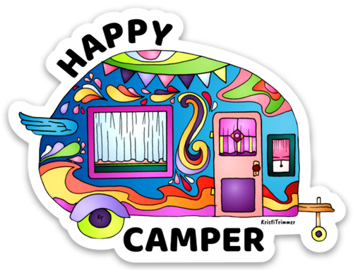 Camping - Happy Camper Sticker
