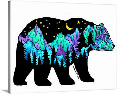 Canvas - Northern Lights Big Dipper Bear