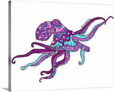 Canvas - Pink Octopus