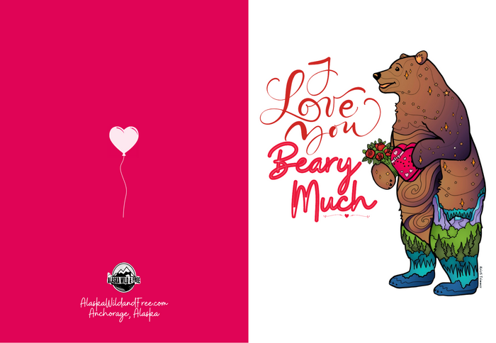 Greeting Card - I Love You Beary Much Valentine's Day Card