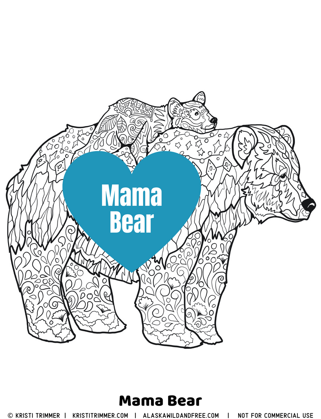 Color: Mama Bear Coloring Page