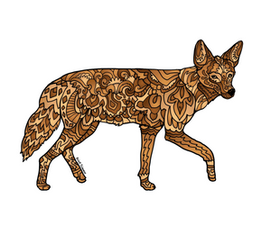 Coyote Stickers