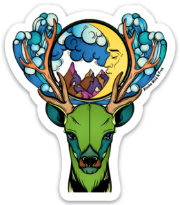 Caribou - Dreaming Caribou Sticker