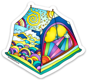 Tent  - Dreaming Tent Sticker