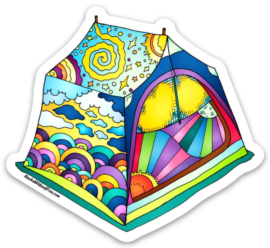 Tent - Dreaming Tent Magnet