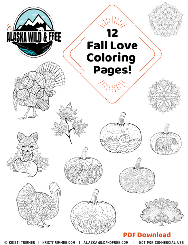 Color: Fall Love Coloring Pages