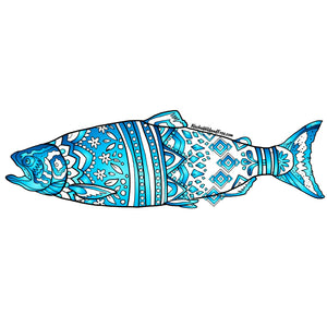 Fish - Blue King Salmon Sticker
