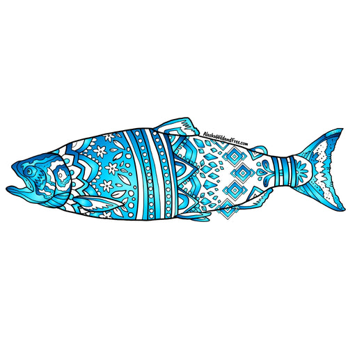 Fish - Blue King Salmon Magnet