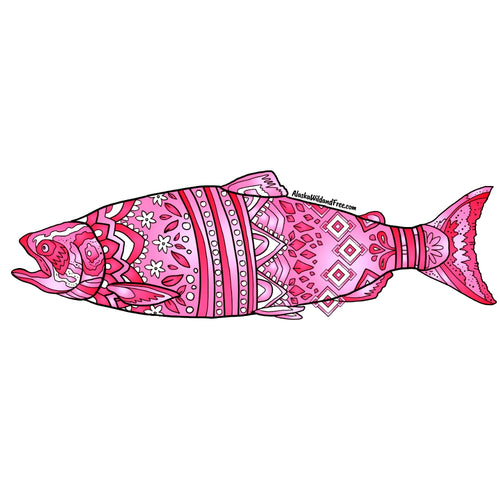Fish - Pink King Salmon Magnet