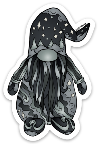 Gnome - Black & White Sticker