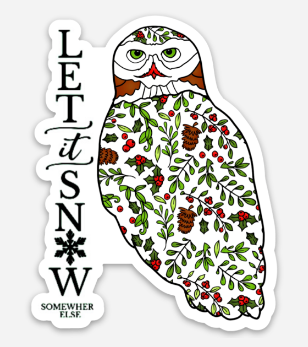 Holiday - Holly Owl - Let it Snow