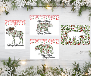 Greeting Card Set - Holly Berry Collection