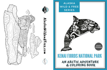 Load image into Gallery viewer, Book - Kenai Fjords National Park: An Adventure & Coloring Book