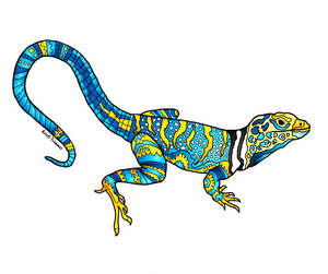 Lizard - Collared Lizard Sticker