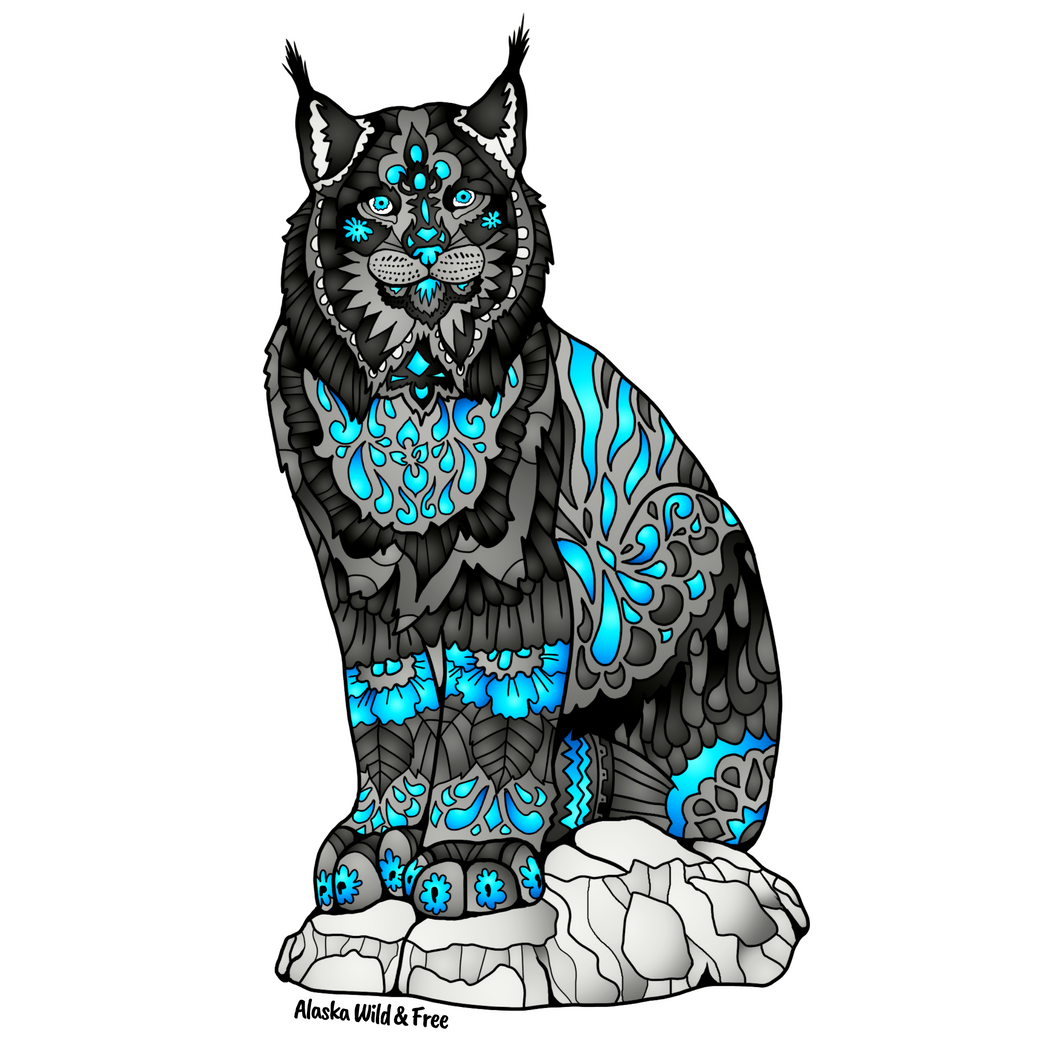 Lynx - Black & Blue & Sticker