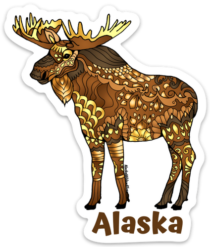 Moose - Majestic Brown Moose + Alaska Magnet