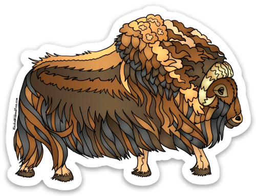 Muskox - Brown Muskox Sticker