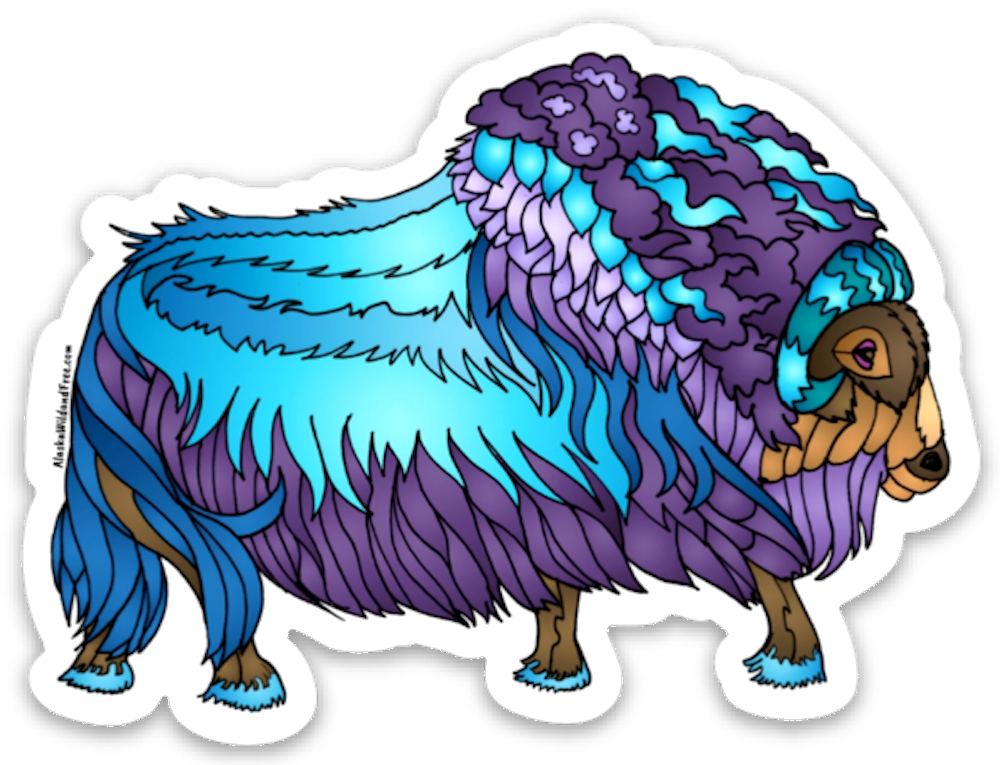 Muskox - Jeweled Muskox Magnet